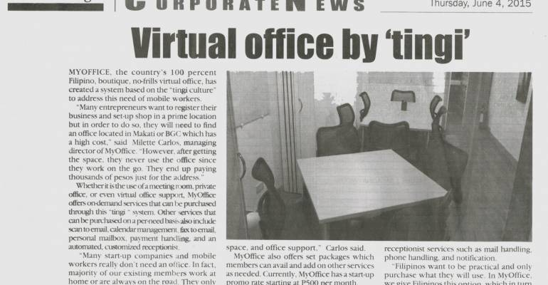 Virtual Office by Tingi- Feature in Malaya Business Insight